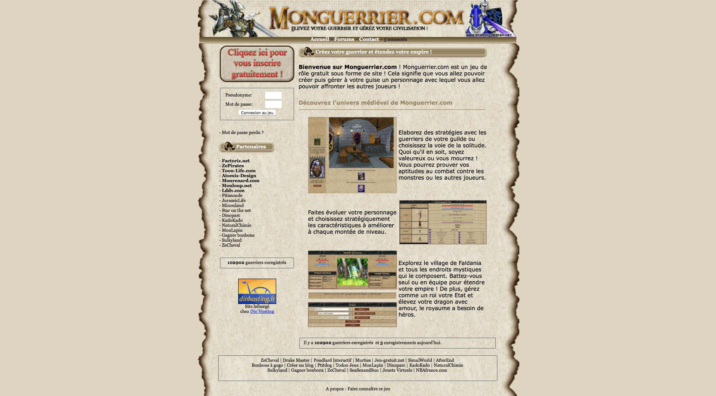Capture écran de la page d'accueil du site MonGuerrier.com